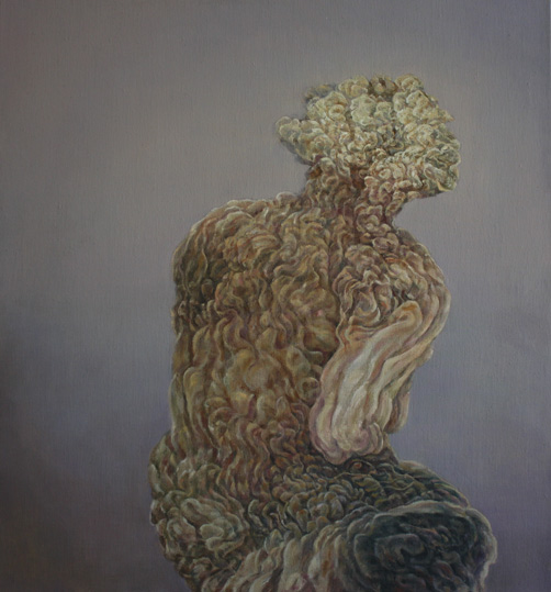 Ruckenfigure, 2013. Oil on canvas.64x 71cm ©Lola Frost
