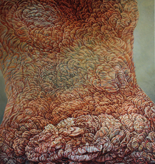 Bodice,   2010. Oil on canvas. 125 x137cm ©Lola Frost