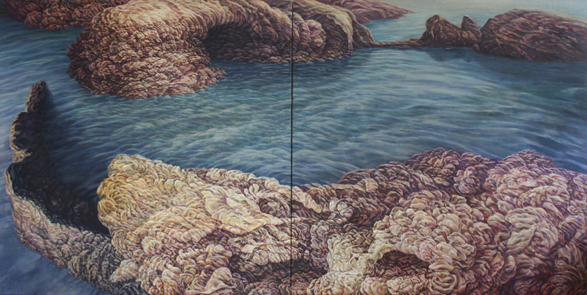 Coast, 2009. Oil on canvas. 135 x270cm ©Lola Frost